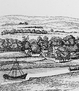 Doomster Hill shown on Robert Pauls drawing of 1758