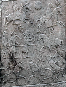 Pictish warriors on the Aberlemno Stone